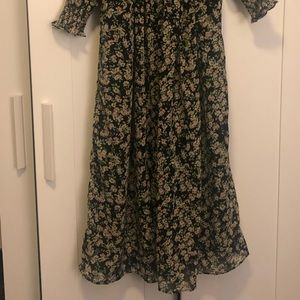 ASOS design shirred midi dress